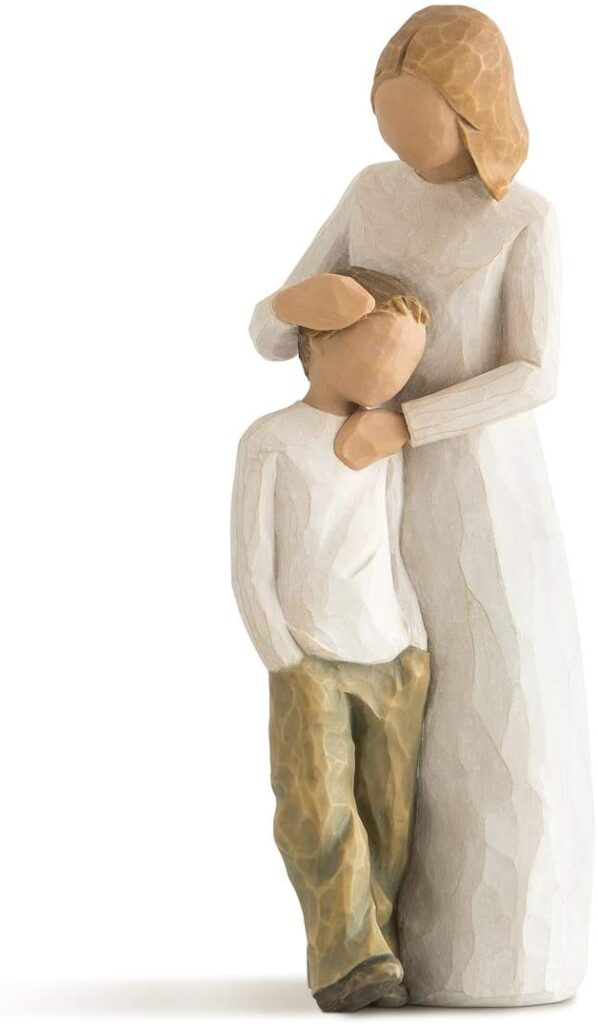 Mother and Son Sculpted Hand Painted Figure