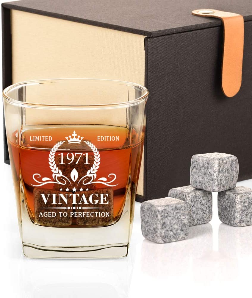 Vintage 1971 whiskey glass