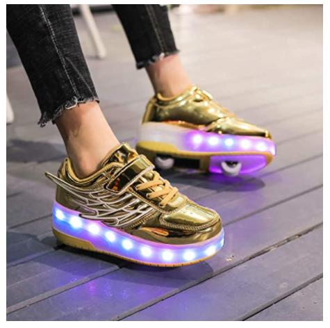 golden roller shoes